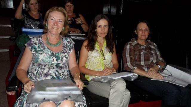 Secretaria Vera Fetter juntamente com a Secretária de Educação de Carazinho, Eloisa Dreyer