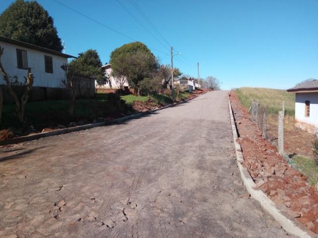 Pavimentação Poliédrica - Rua Ernesto Zanetti no Distrito de Rincão do Segredo