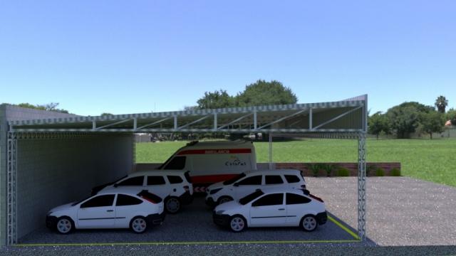 Garagem/Estacionamento da Unidade Básica de Saúde