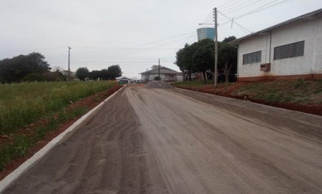 Pavimentação Poliédrica - Rua Pedro Pedro Pereira no Distrito de Rincão do Segredo